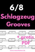 6/8 Schlagzeug Grooves lernen