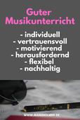 Guter Musikunterricht Kriterien