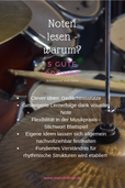Notenlesen Musik Vorteile