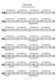 Triolen Sidestick Schlagzeugnoten