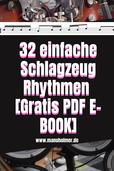 Gratis PDF 32 Schlagzeug Rhythmen