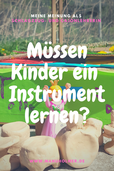 Kinder Musikinstrument lernen