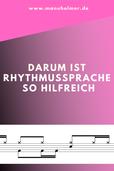 Rhythmussprache Schlagzeug