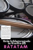 Schlagzeugsolo PDF Noten üben