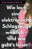 Elektro Schlagzeug Lautstärke