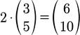 Beispiel für die Berechnung der Skalarmultiplikation von 3D Vektoren
