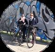 alternative geführte Radtour oder zu Fuß zu illegalen und legalen Arbeiten des Szene