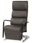 Luxus Design Fernsehsessel Leder schwarz