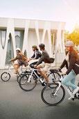 Mit dem e-Bike in der Stadt unterwegs