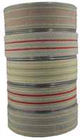 striped ribbon no. 15, broad; 90 linen, 10% acrylic, width 3cm. Beautiful linen ribbon with delicate stripes