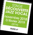 Découverte Jazz vocal avec Laurence Saltiel, A vous de jouer