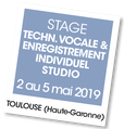 Stage Enregistrement studio