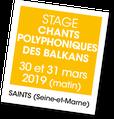 Stage polyphonies des balkans - A vous de jouer
