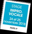 Stage impro vocale avec Chrstine Bertocchi, A vous de jouer