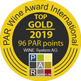 TOP GOLD Medaille Weinwettbewerb PAR Wine Awars International