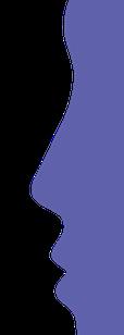 blaues Gesicht, Logo vom Zahnzentrum Fiedler in Kenzingen, Spezialisten für  Zahnheilkunde, Mund- Kiefer- und Gesichtschirurgie und Implantologie