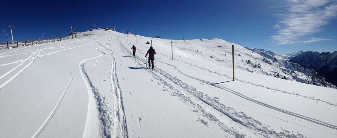 Les crêtes sous une belle couche de neige fraîche non ventée !!!
