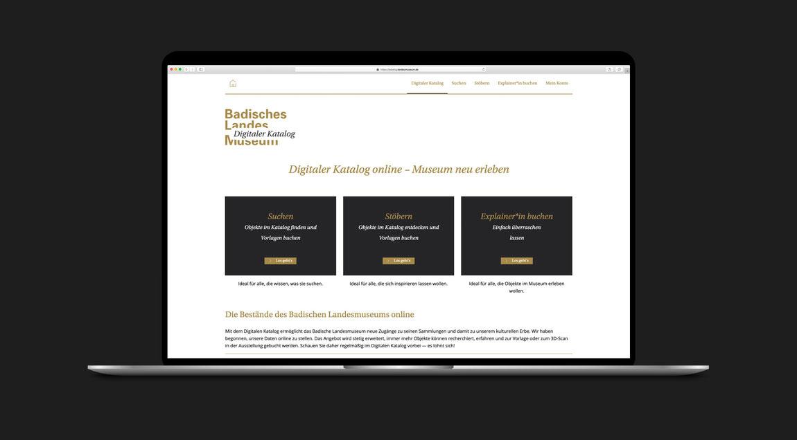User Experience und User Interface des Digitalen Katalogs des Badischen Landesmuseums in Karlsruhe