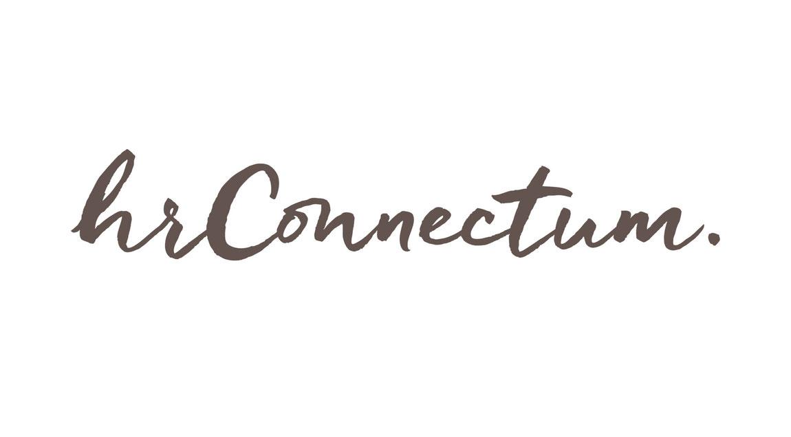 Typografischer Schriftzug hr connectum