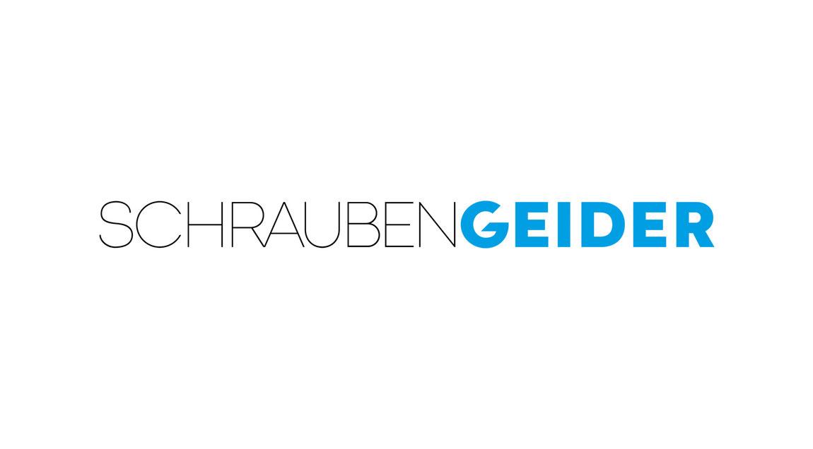 Modernes Erscheinungsbild für die Firma Schrauben Geider aus Hockenheim. Logodesign, Wortmarke.