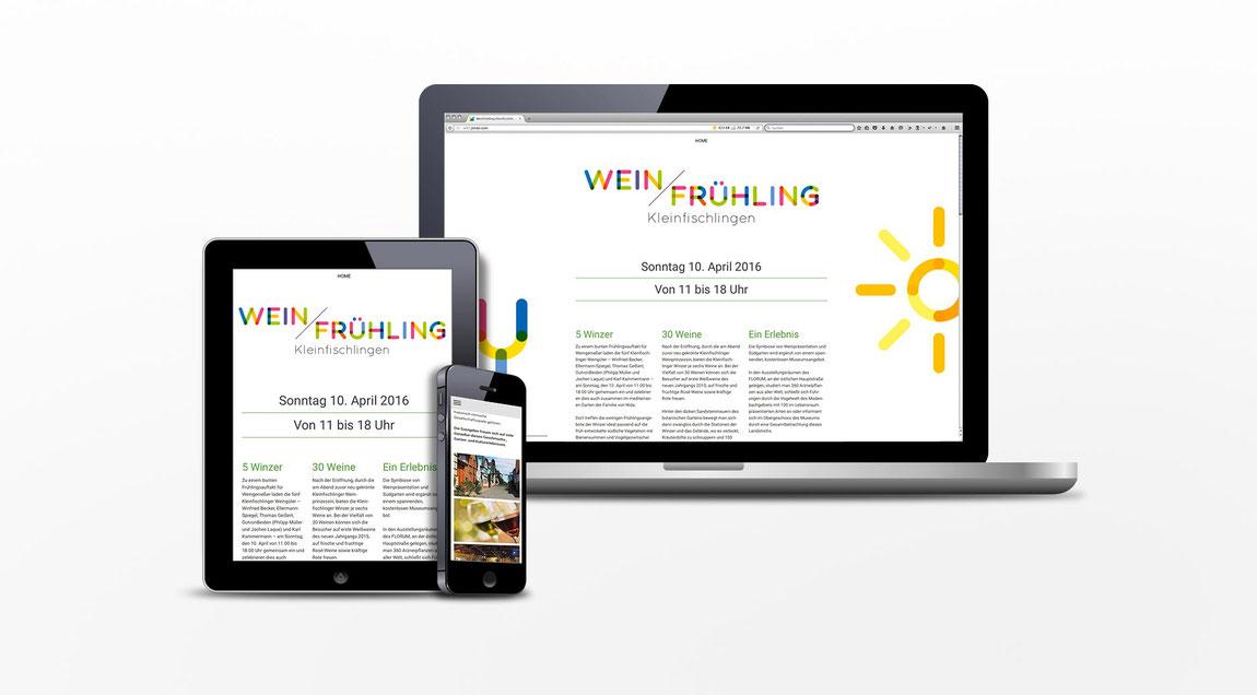 Website für den Weinfrühling in Kleinfischlingen
