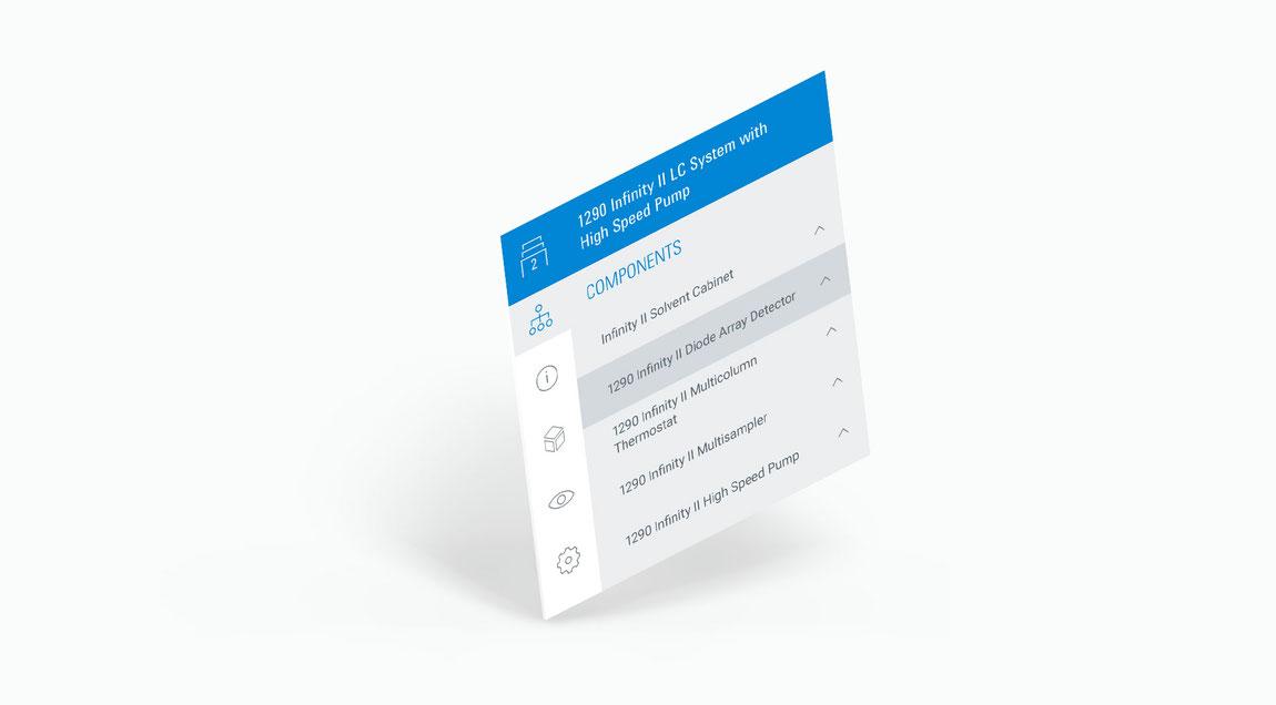 User Interface für eine 3D-Echzeit-App für Agilent