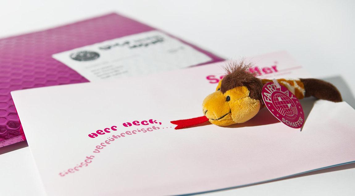 Personalisiertes Direktmailing für die Rudolf Schaffer Collection aus Karlsruhe