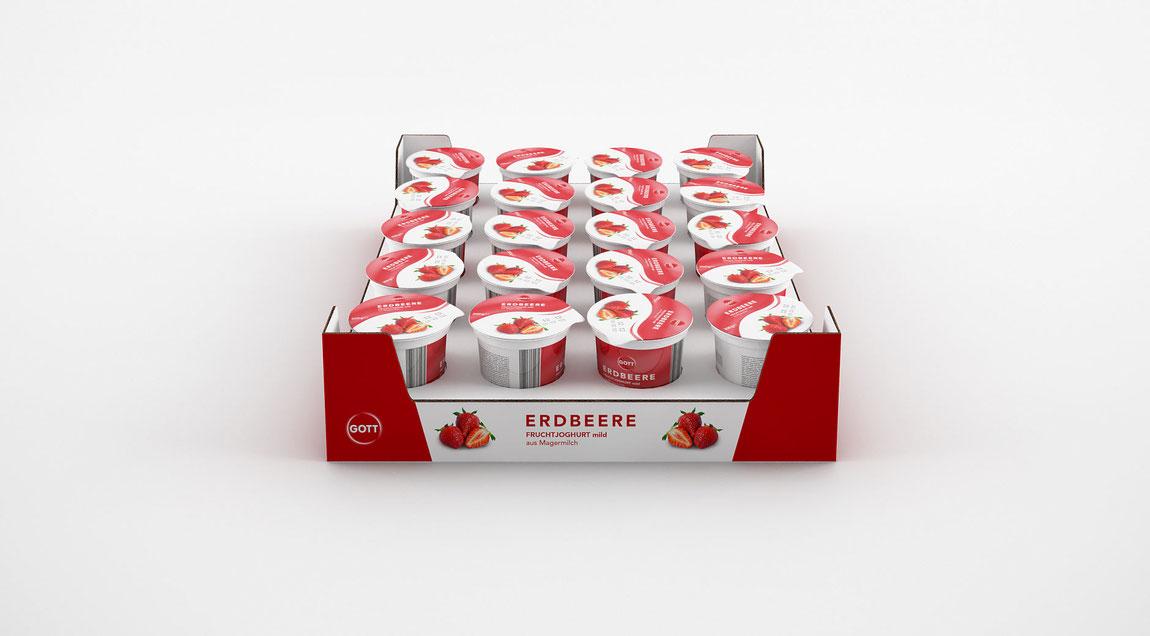 Für die technische Produktpräsentation von Kühl- und Gefrierschränken: über 100 fiktive Produktverpackungen.