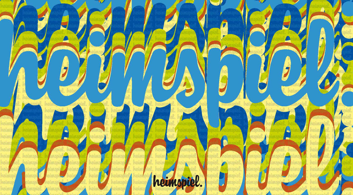 Logo heimspiel - die Kneipe am KIT - in der Anwendung auf einer Postkarte