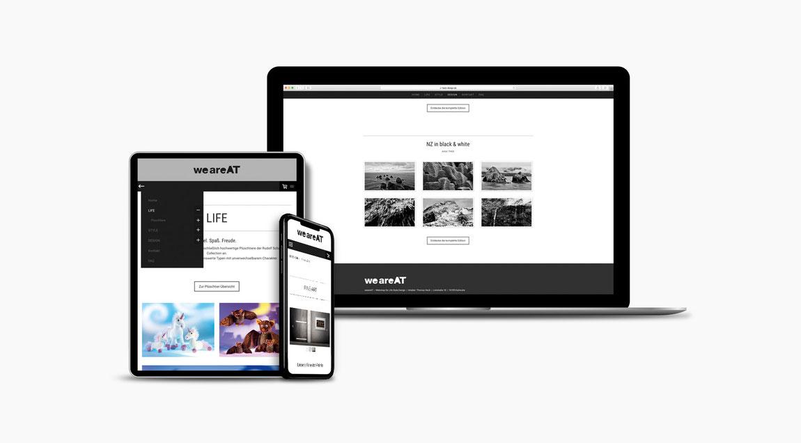 Website für weareat – Designprodukte aus Karlsruhe