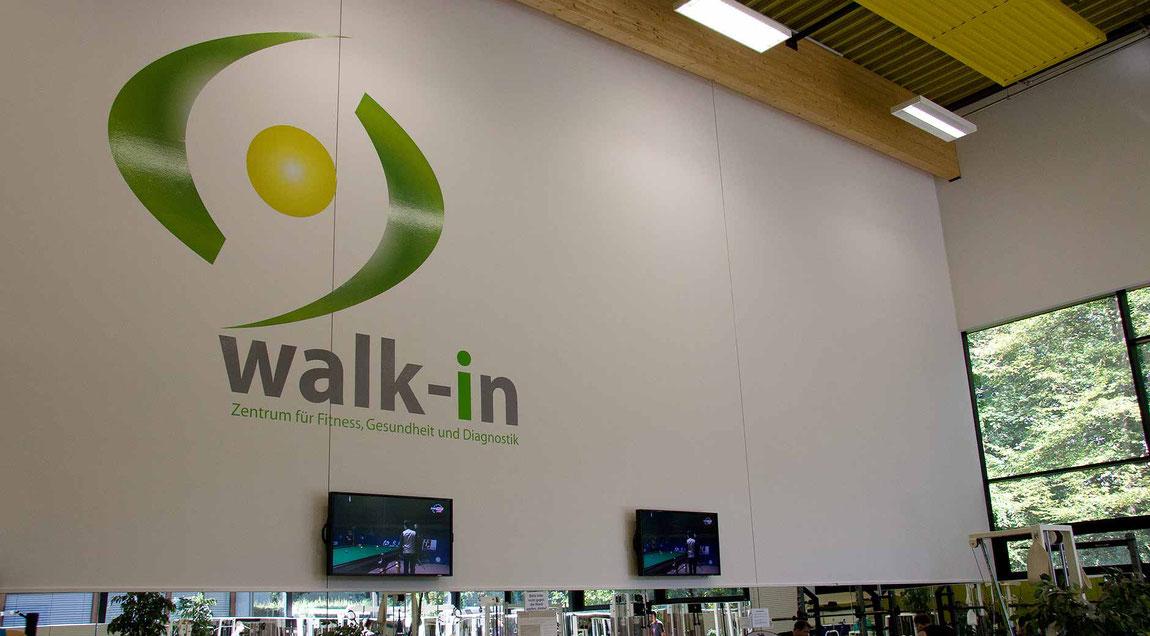 Wegleitsystem für das KIT Abteilung Hochschulsport, große Wand im walk-in