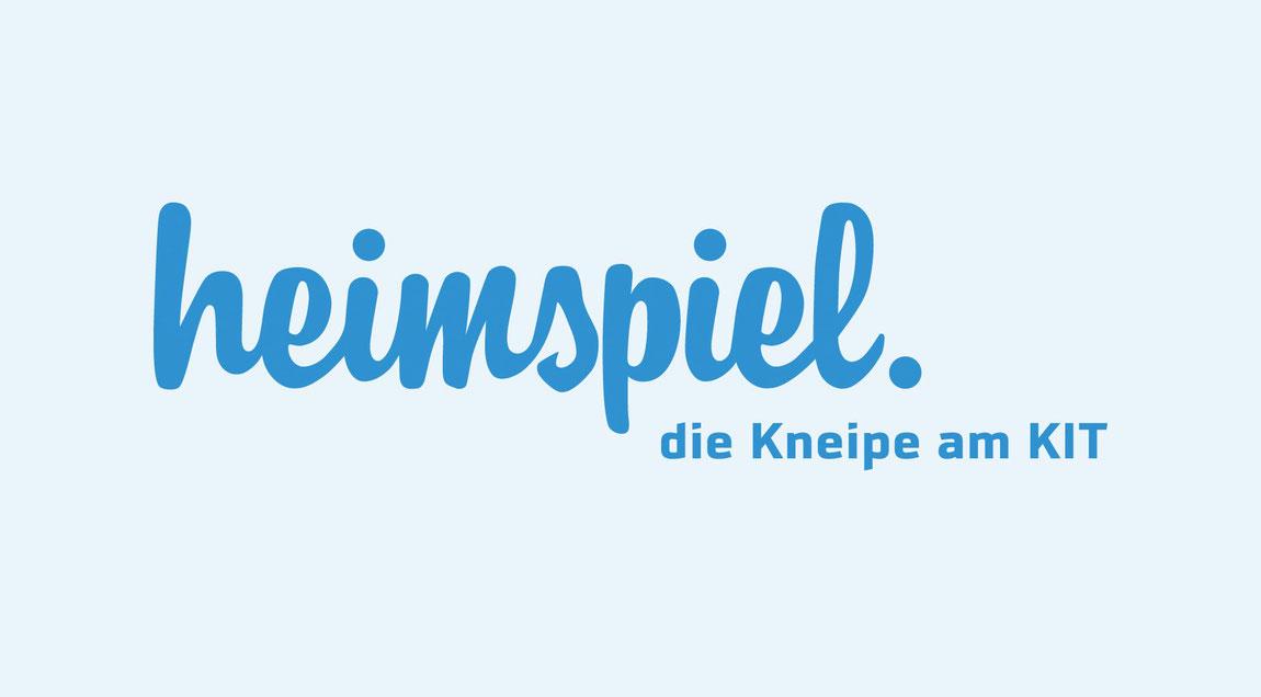 Typografisches Corporate Design für das KIT heimspiel – die Kneipe am KIT in Karlsruhe.