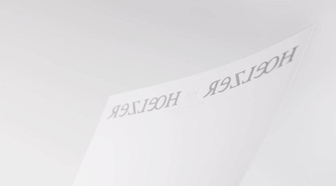 Unternehmensauftritt für die Zahnarztpraxis Hoelzer und Hoelzer Zahnärzte – Briefbogen, beidseitig bedruckt