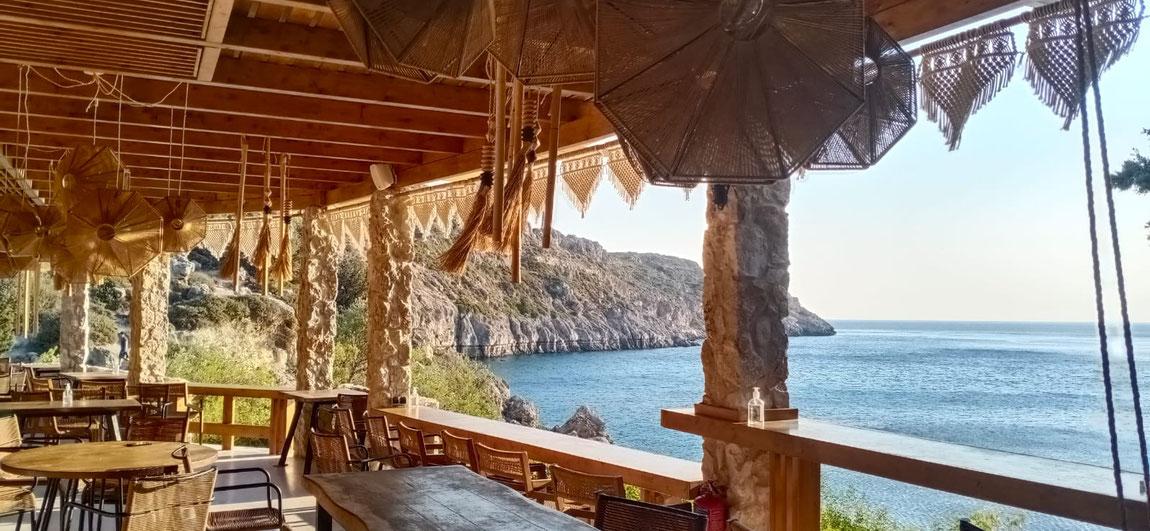 Anthony Quinn Bucht Restaurant Rhodos