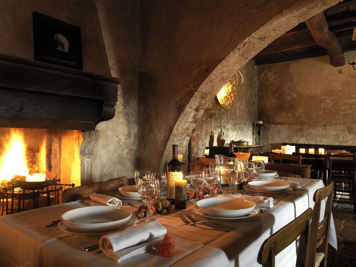 Innenansicht Restaurant im Gewölbe