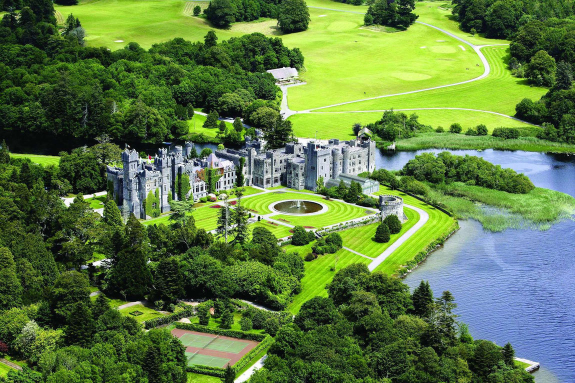Luftbild Ashford Castle