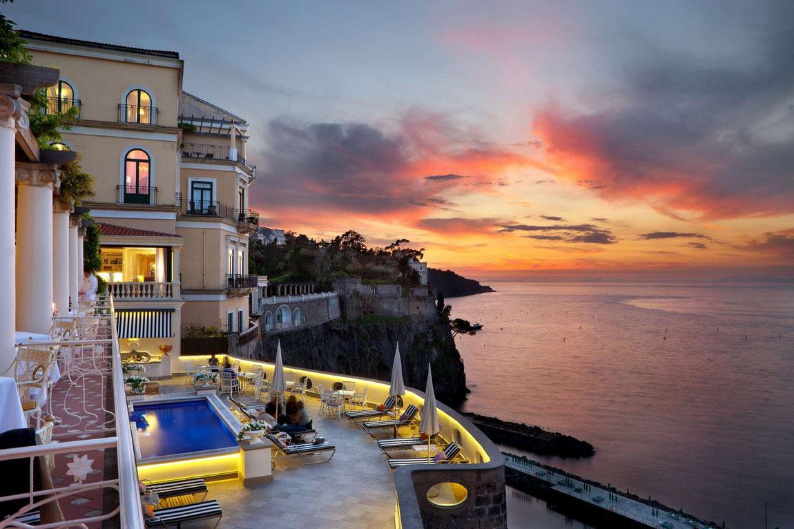 Abendstimmung mit Blick aufs Meer