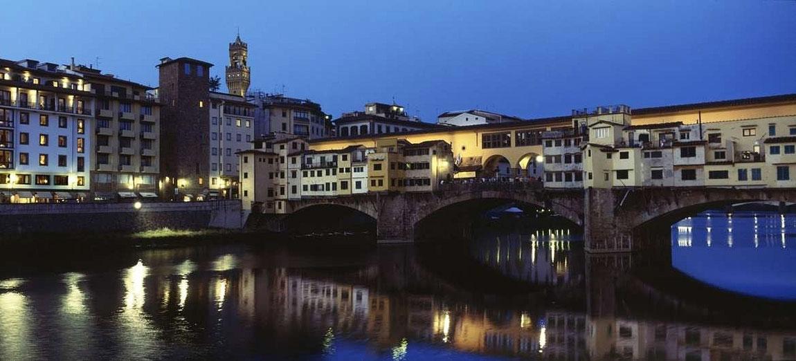 Abendansicht Ponte Vecchio, Florenz
