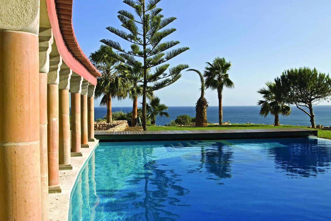 Boutique Hotel Vivenda Miranda: Pool mit Blick aufs Meer