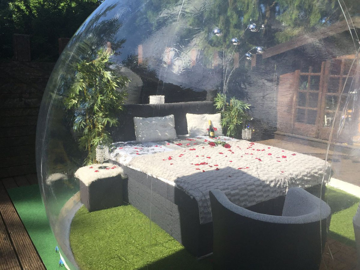 Bett im Bubble