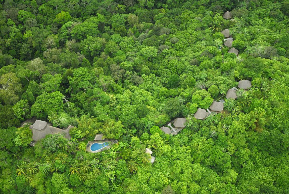 Lapa Rios Ecolodge Ansicht im Dschungel von oben