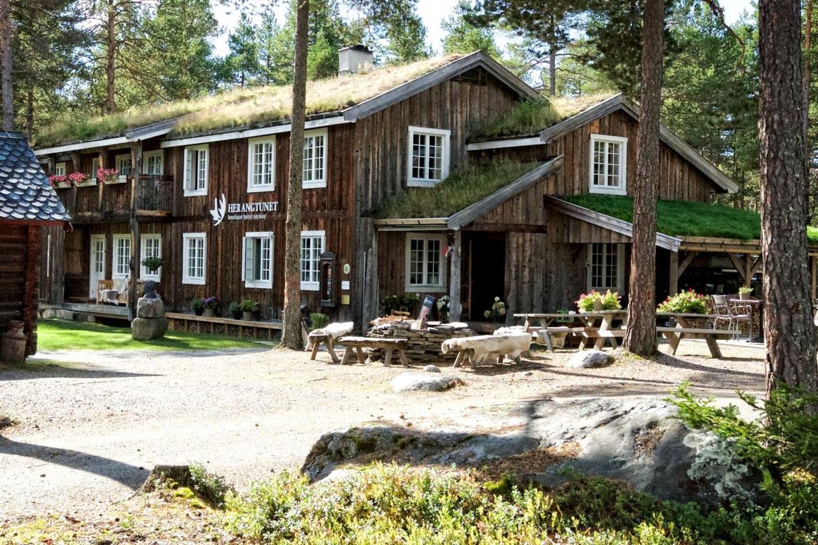 Herantunet Boutique Hotel im Wald im Sommer