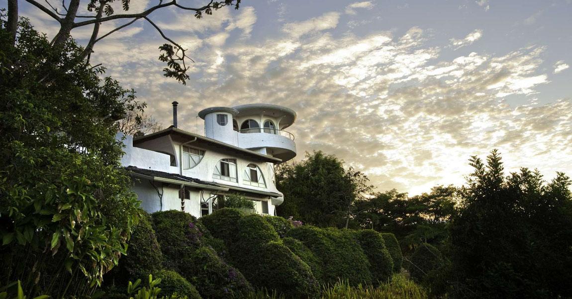 Hotelansicht der Finca Rosa Blanca