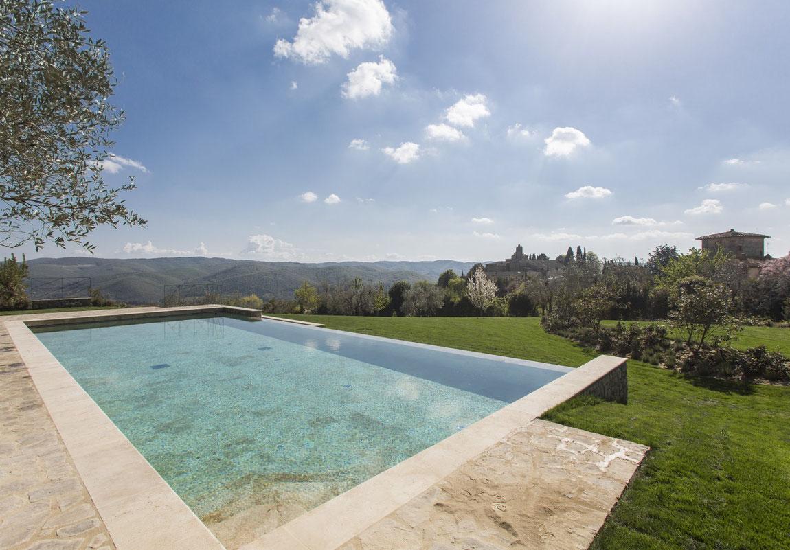 Infinity Pool der Villa Le Barone