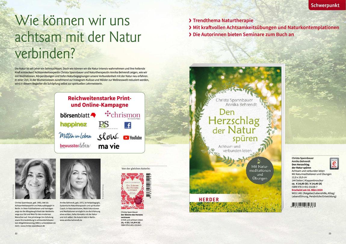 Den Herzschlag der Natur spüren. Das neue Buch von Christa Spannbauer
