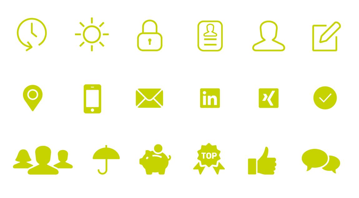 Icons für hr connectum und matchgarden