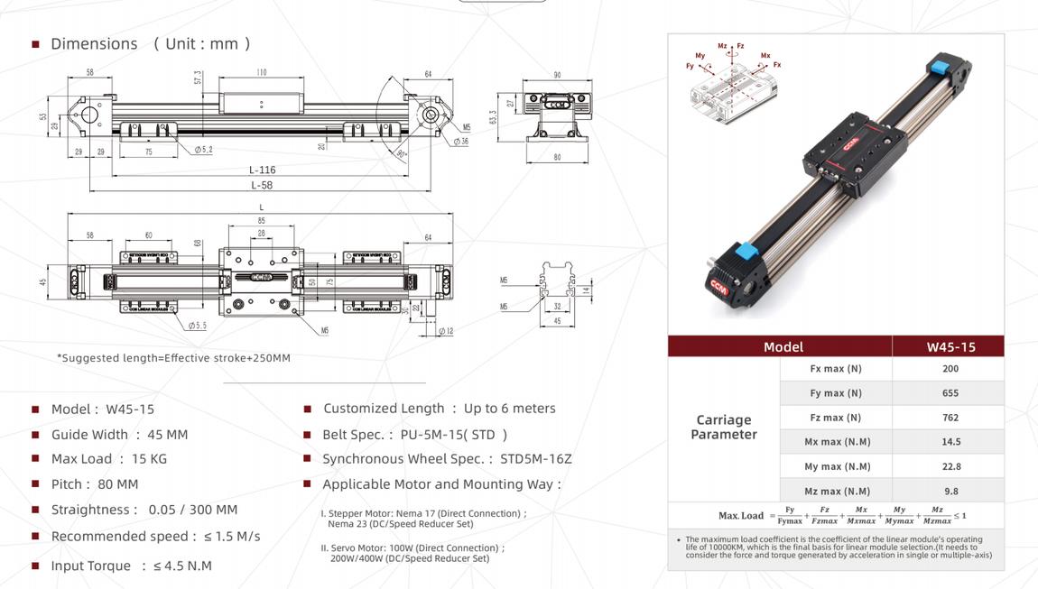 W45-15 linear module