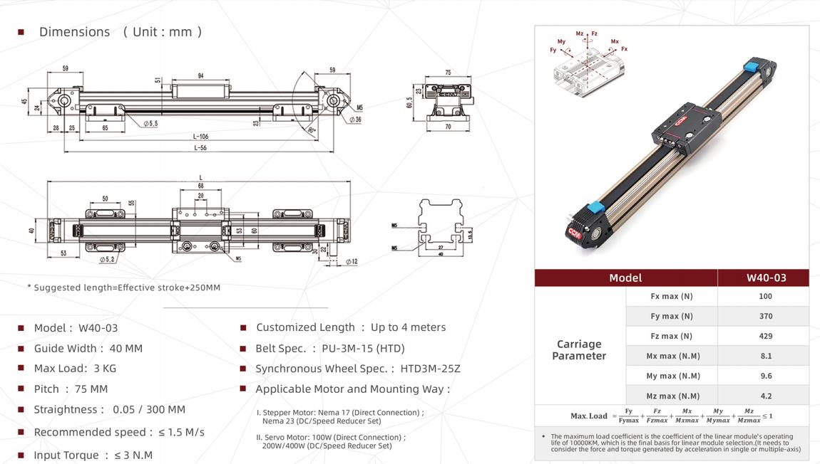 W40-03 linear module