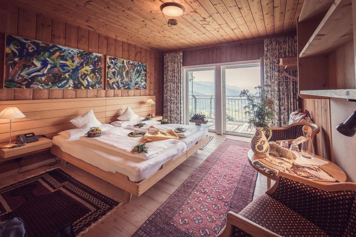 Bio-Hotel Grafenast Zimmer mit Talblick