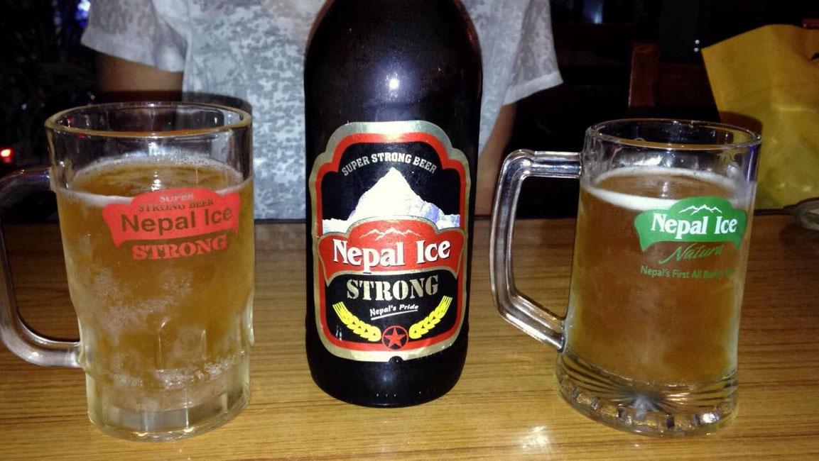 La bière locale bien méritée et assez forte !